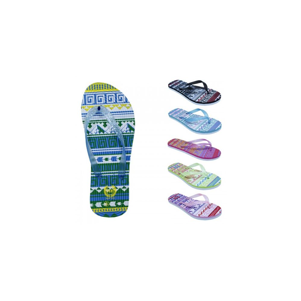 Wholesale Footwear Women's Tribal Glitter Sandals - at