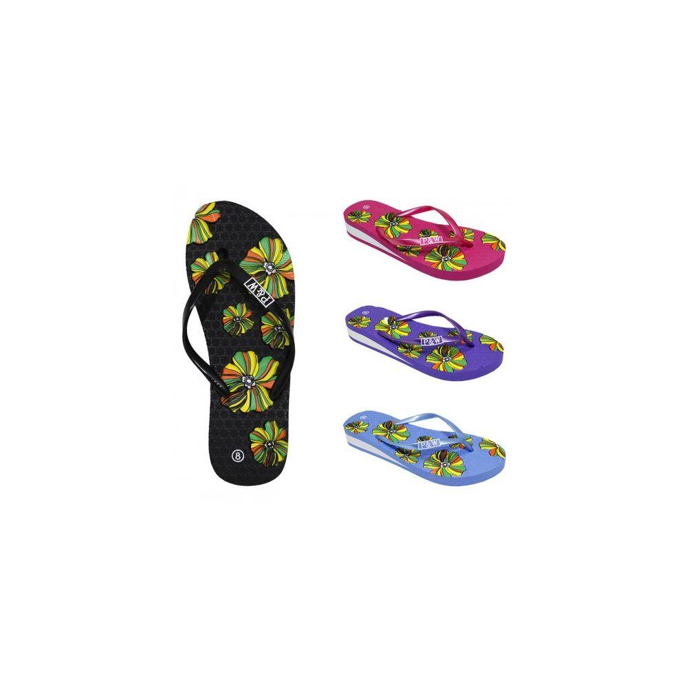 Wholesale Footwear Women's Fashion Floral Flip Flop