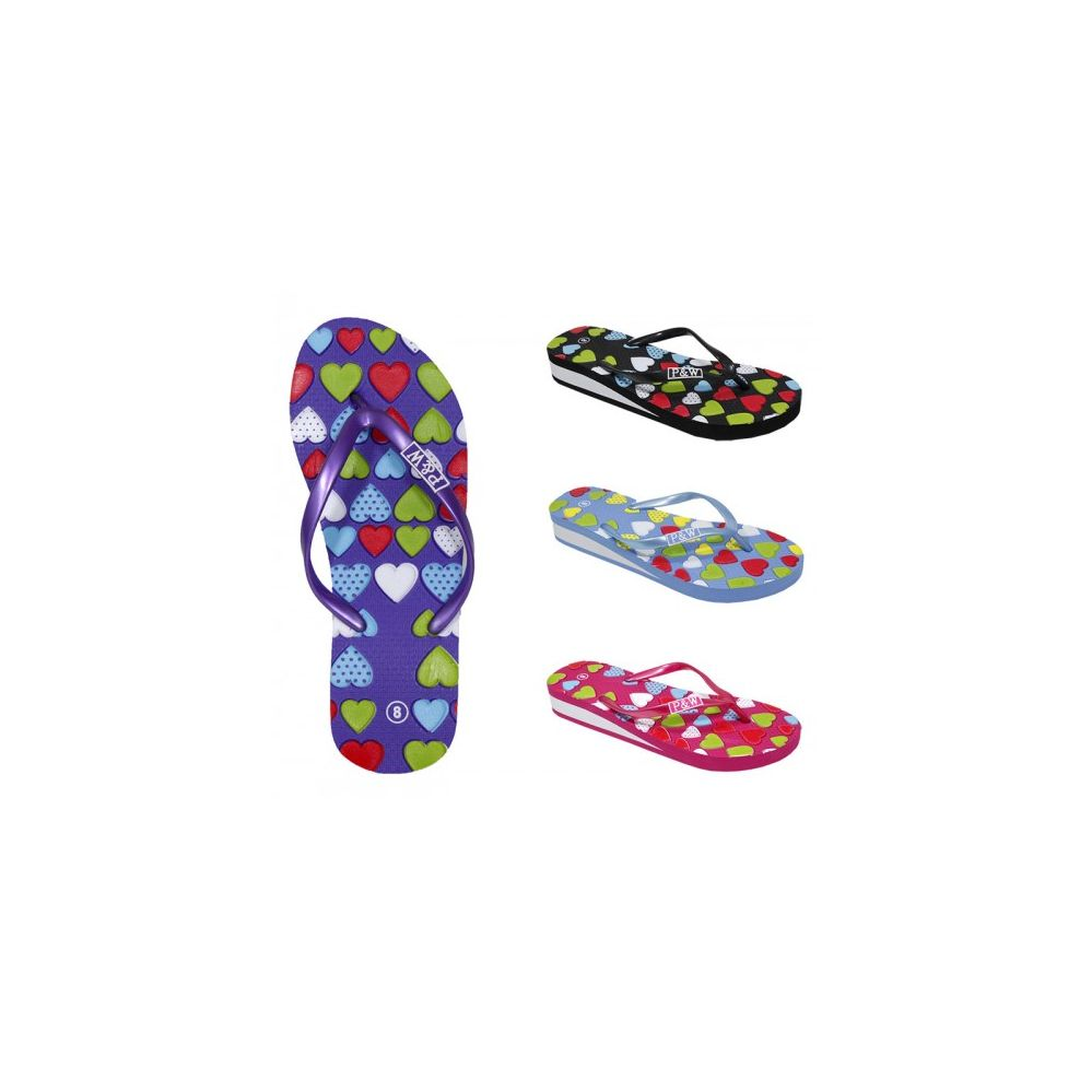 Wholesale Footwear Women's Fashion Floral Flip Flop