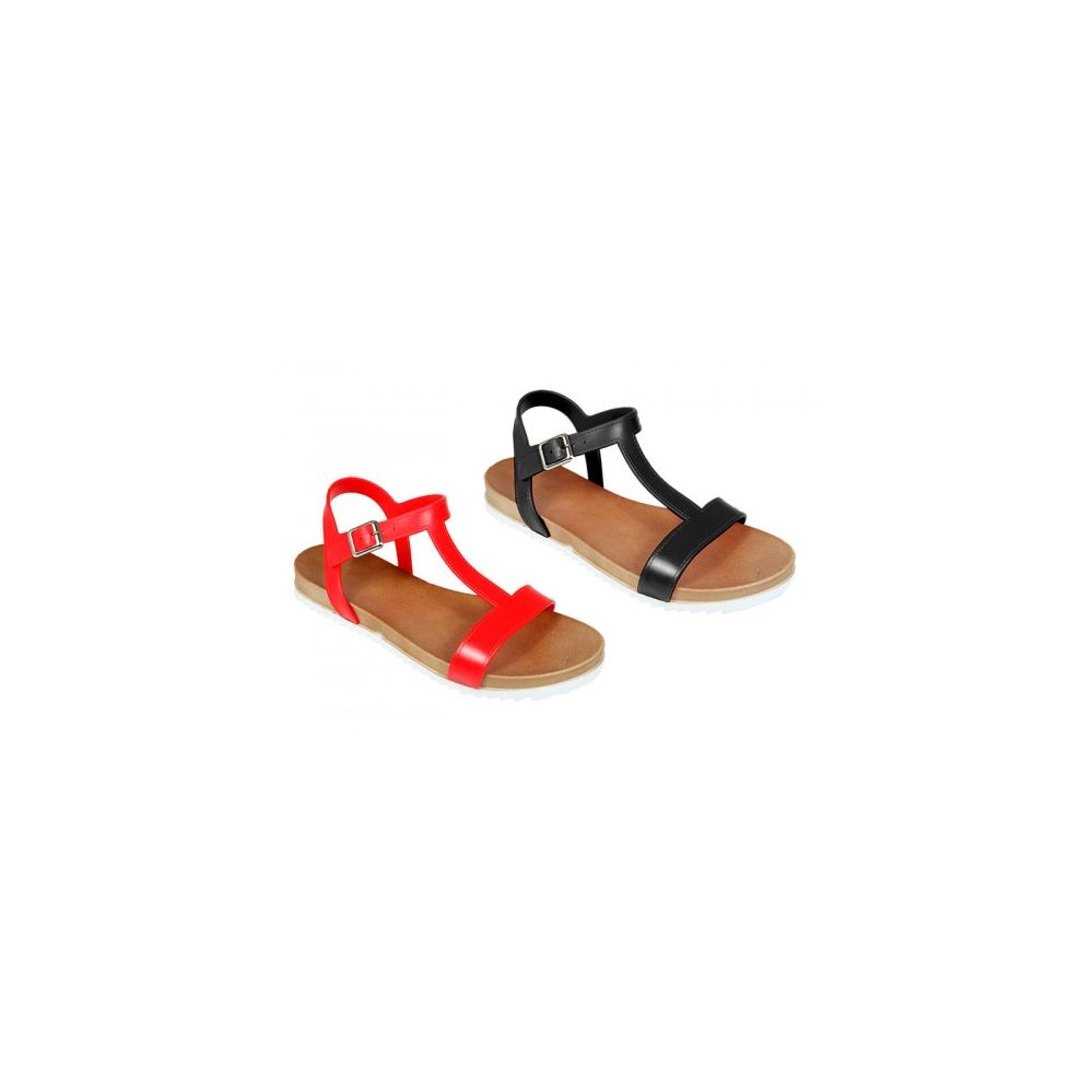Wholesale Footwear Women's Solid Color Sandal