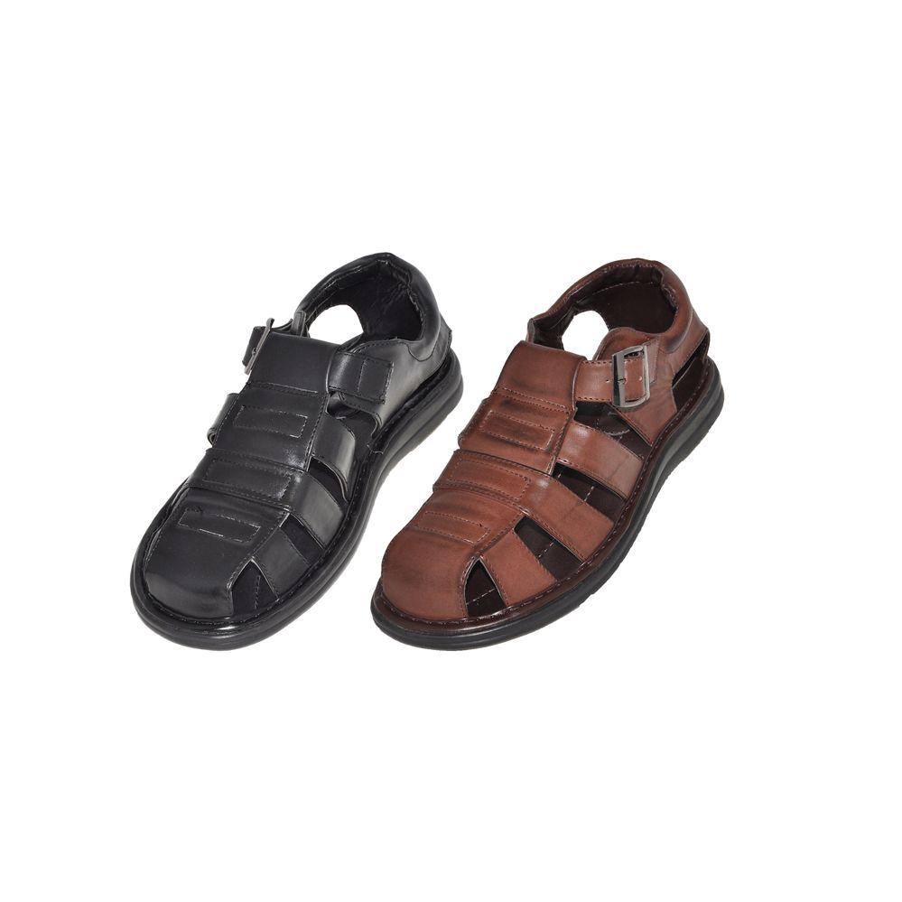 Wholesale Footwear Men's Buckle Sandals