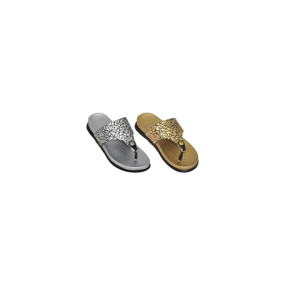 e39f29487 Wholesale Footwear Ladies Metallic Flip Flop Sandals - at ...