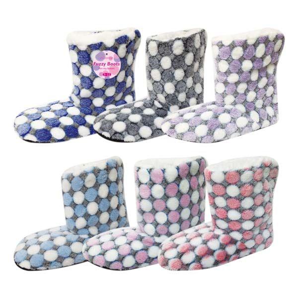 Wholesale Footwear Lady's's fuzzy boots size 7/8-9/11