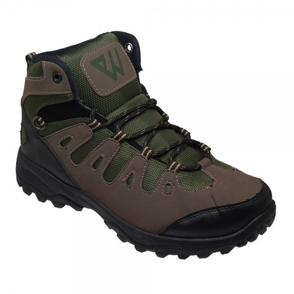 Wholesale Footwear Men's Lightweight Hiking Boots In Brown And Army Green