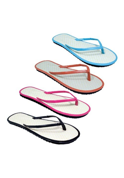 Wholesale Footwear casual tropical inspired flip flop