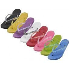 Wholesale Footwear Women's Soft Comfort Thong Flip Flops