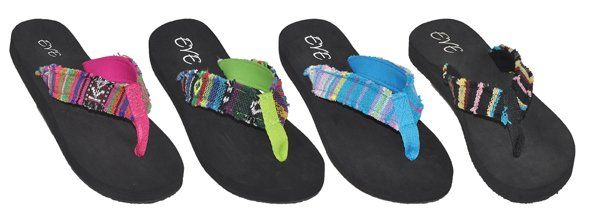 Wholesale Footwear Women's Flip Flops Assorted Color