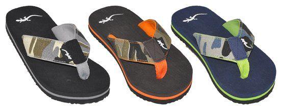 Wholesale Footwear MENS ASSORTED COLOR FLIP FLOP CAMO