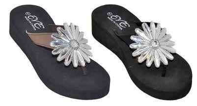 Wholesale Footwear Women's Assorted Color Flip Flops With Flower