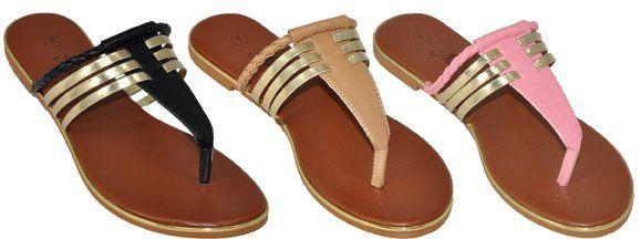 Wholesale Footwear Womens Assorted Color Flip Flops