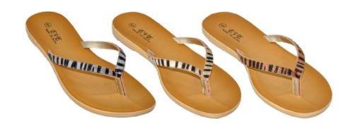 Wholesale Footwear Women's Animal Pattern Flip Flop