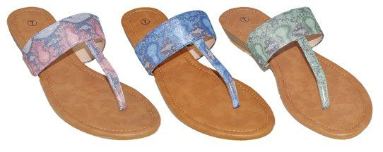 Wholesale Footwear Women's Assorted Color Sandals