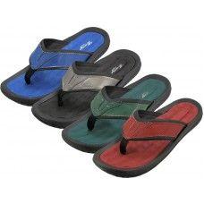 Wholesale Footwear Men's Soft Comfortable Gel Insole Thong Sandals