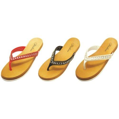 Wholesale Footwear Women Slipper With Rhinestones