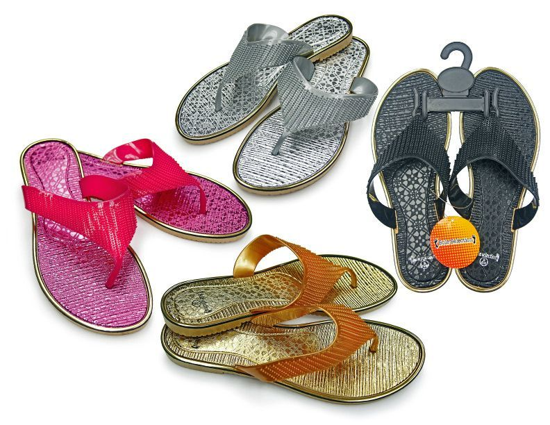 Wholesale Footwear Women's Thong Sandals With Cascading Straps - Assorted Colors