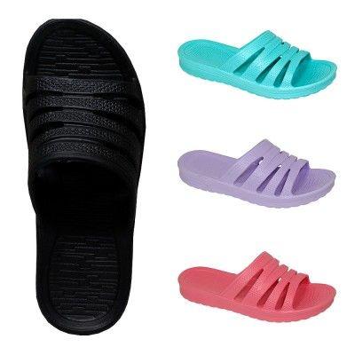 Wholesale Footwear Ladies Shower Slipper Assorted Colors
