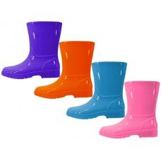 Wholesale Footwear Children's Water Proof Plain Rubber Rain Boots