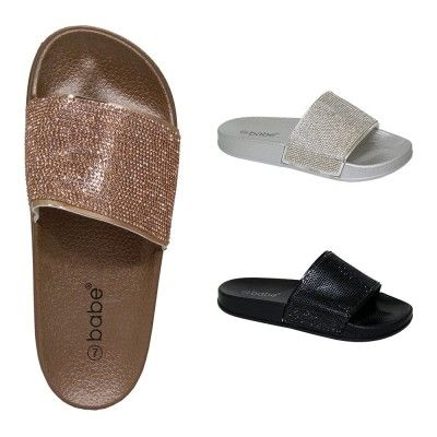 08b4d7f5e3 Wholesale Footwear Women s Glitter Slides in Assorted Colors - at ...