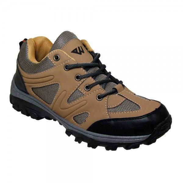 Wholesale Footwear Men's Lightweight Hiking Shoes in Dark Brown