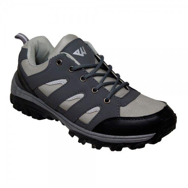Wholesale Footwear Men's Lightweight Hiking Shoes in Grey