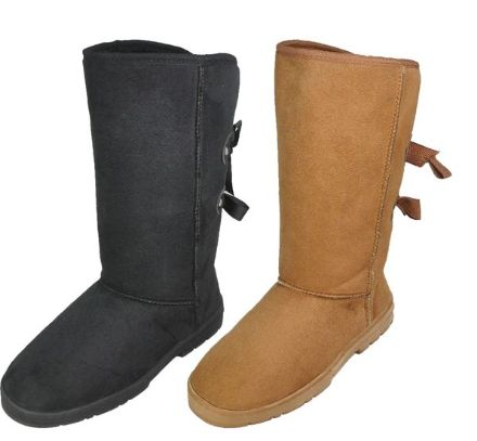 Wholesale Footwear Ladies Tall Winter Boot In Tan And Black
