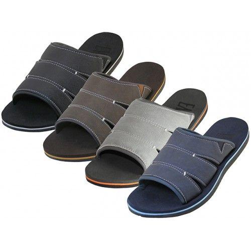 Wholesale Footwear Men's Soft Insole Slide Sandals