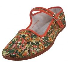Wholesale Footwear Women's Printed Classic Cotton Mary Janes Shoe