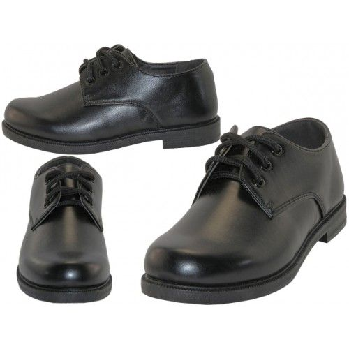 Wholesale Footwear Big Boy's Black Lace Up School Shoe