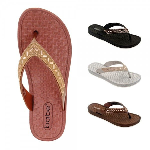 Wholesale Footwear Women Thong Sandal With Rhinestone And Bead Strap
