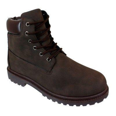 Wholesale Footwear Mens Lace Up Work Boot In Brown