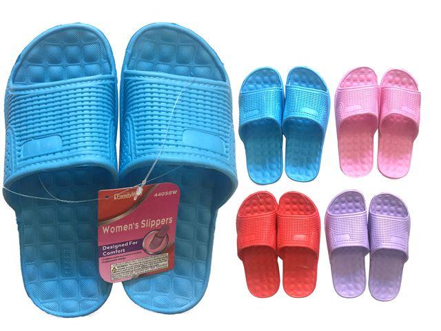 Wholesale Footwear Ladies Assorted Color Shower Slipper