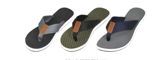 Wholesale Footwear Men's Sandals With Braided Trim