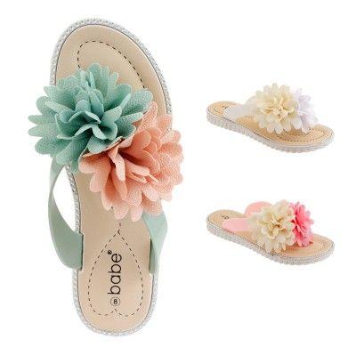 Wholesale Footwear Women Floral Aplique Sandals Assorted