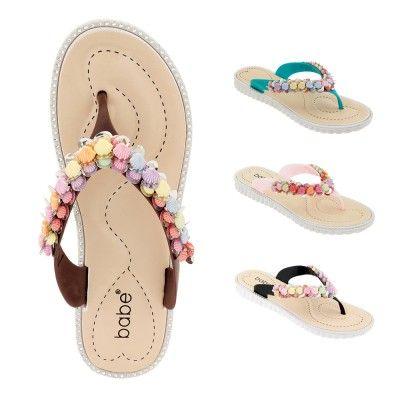 Wholesale Footwear Women Seashell Flip Flops Assorted Color