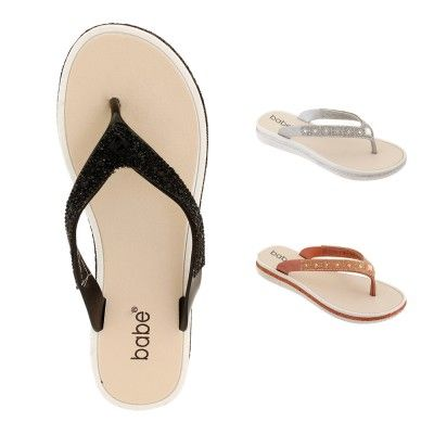 Wholesale Footwear Women Rhinestone Flip Flops Assorted
