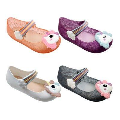 Wholesale Footwear Girls Unicorn Mary Jane Shoes Assorted