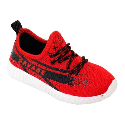 Wholesale Footwear Kids Blessed Jogger In Red And Black