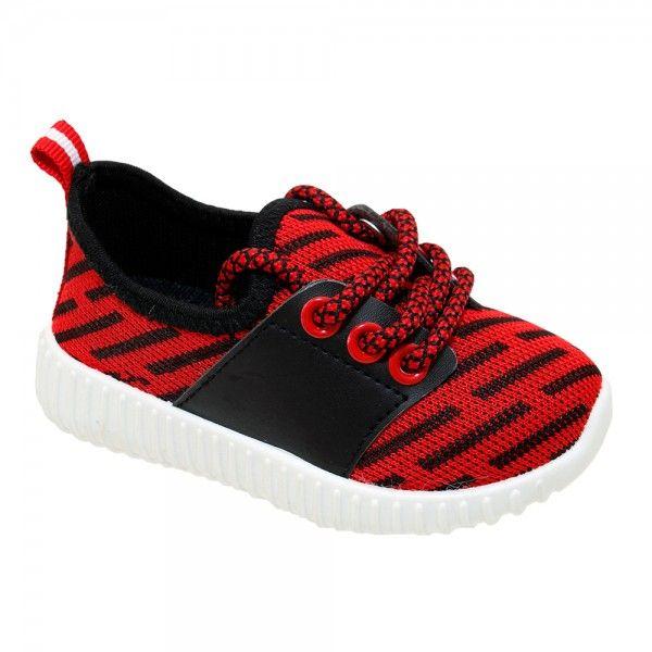 Wholesale Footwear Kids Bar Jogger In Red