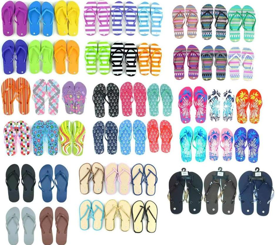 Wholesale Footwear Assorted Womens And Mens Flip Flops Bulk Pallet