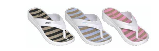 Wholesale Footwear Women's Striped Assorted Flip Flop