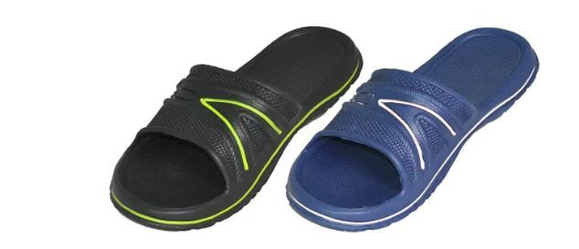 Wholesale Footwear Men's Shower Slippers Two Color Assortment