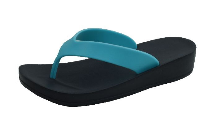 Wholesale Footwear Ladies' Wedge Sandals In Turquoise