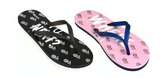 Wholesale Footwear Woman's Printed Pineapple Flip Flop