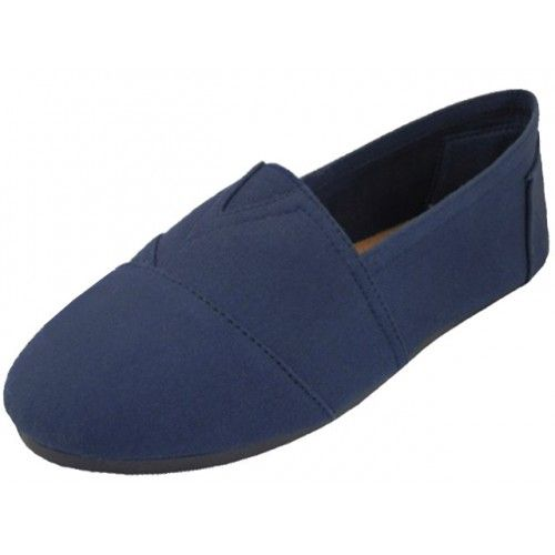 Wholesale Footwear Men's Slip On Casual Canvas Shoe ( *Navy Color )