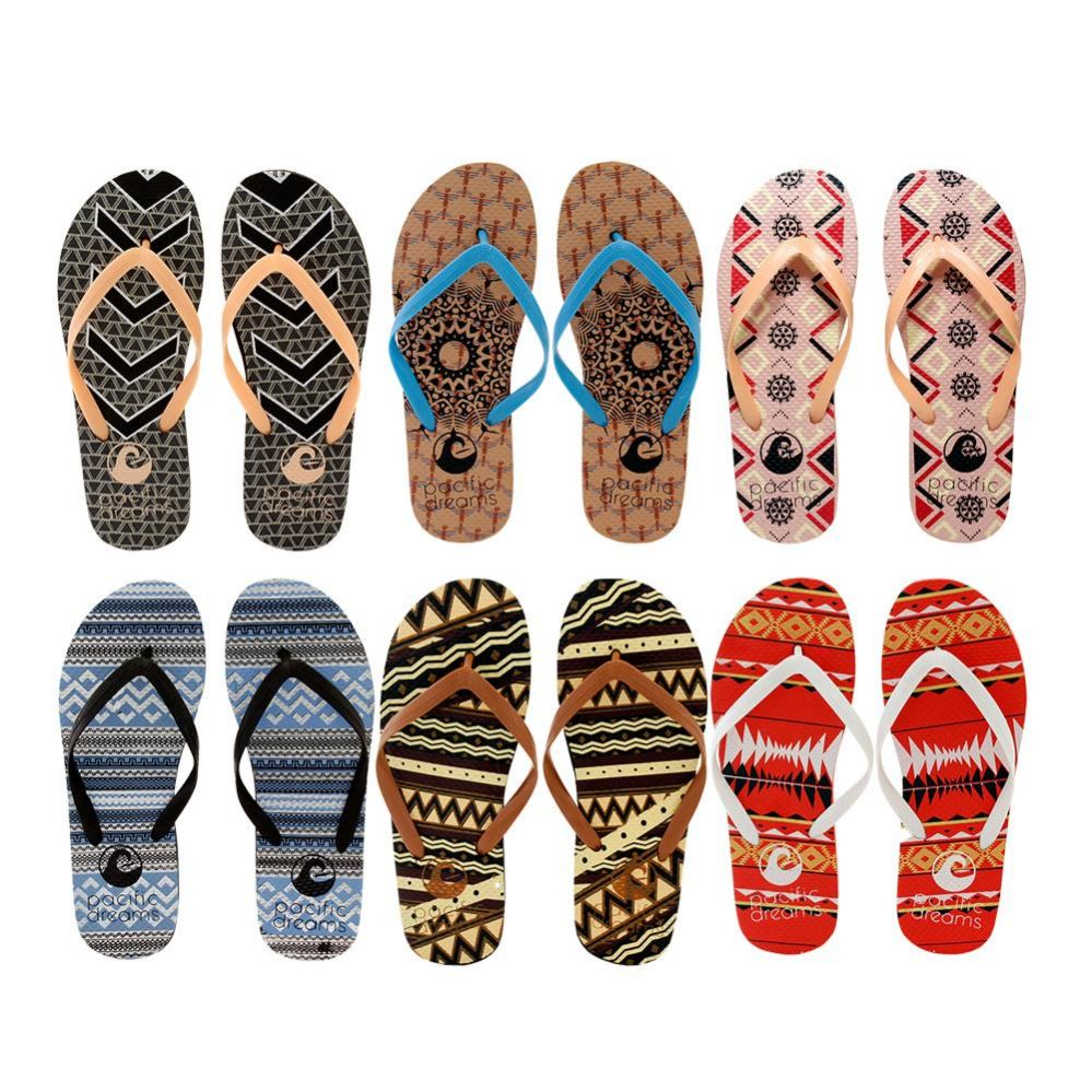 Wholesale Footwear Woman's Slim Flip Flop With Sleek Straps