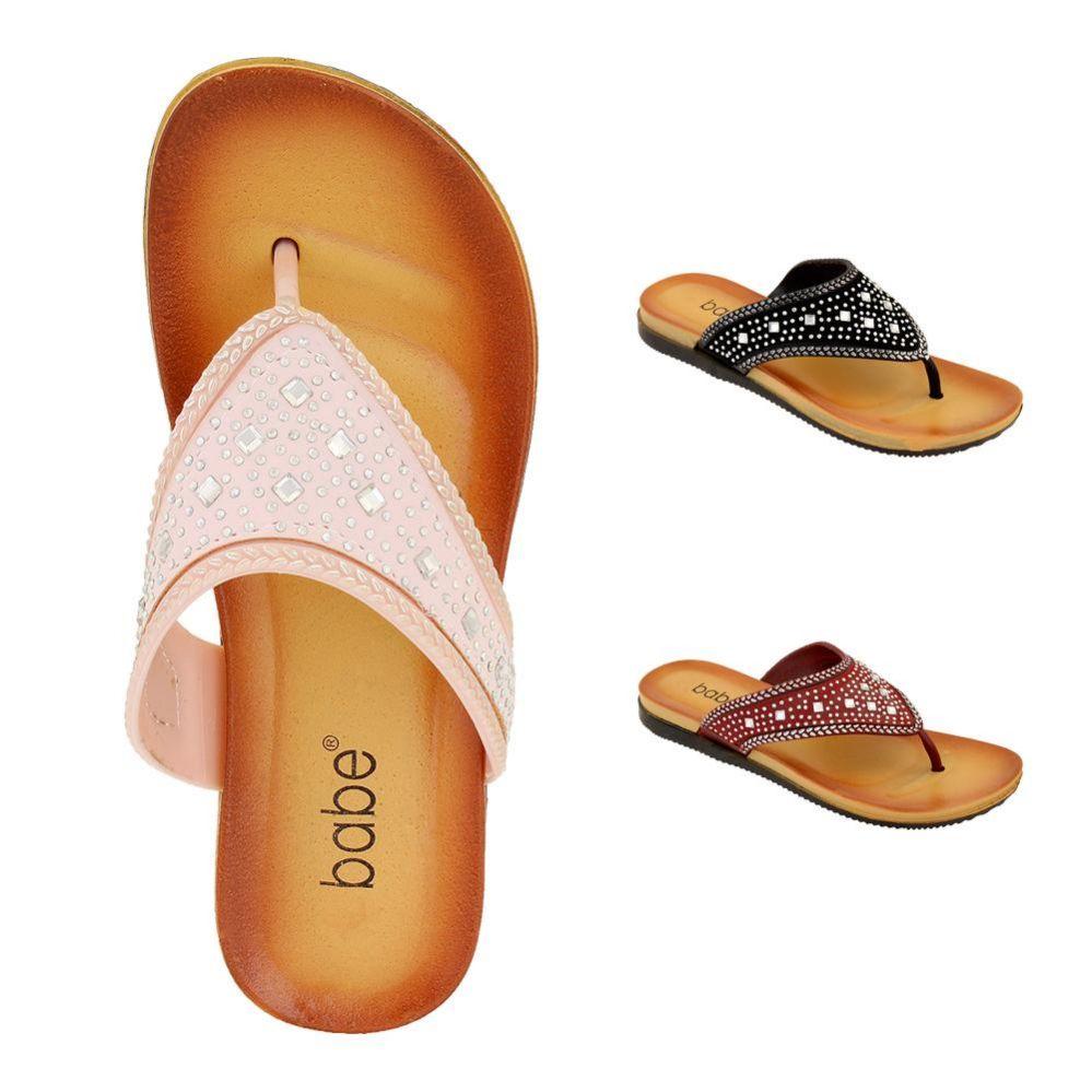 Wholesale Footwear Women's Rhinestone Flip Flops Assorted Color