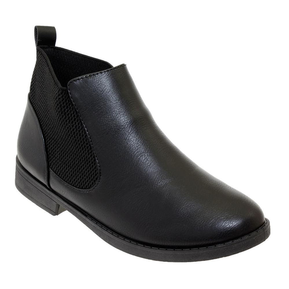 Wholesale Footwear Women's Leather Ankle Booties In Black