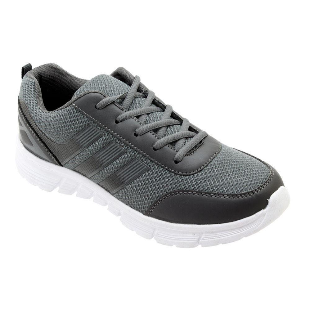 Wholesale Footwear Men's Lightweight Casual Sneakers In Grey