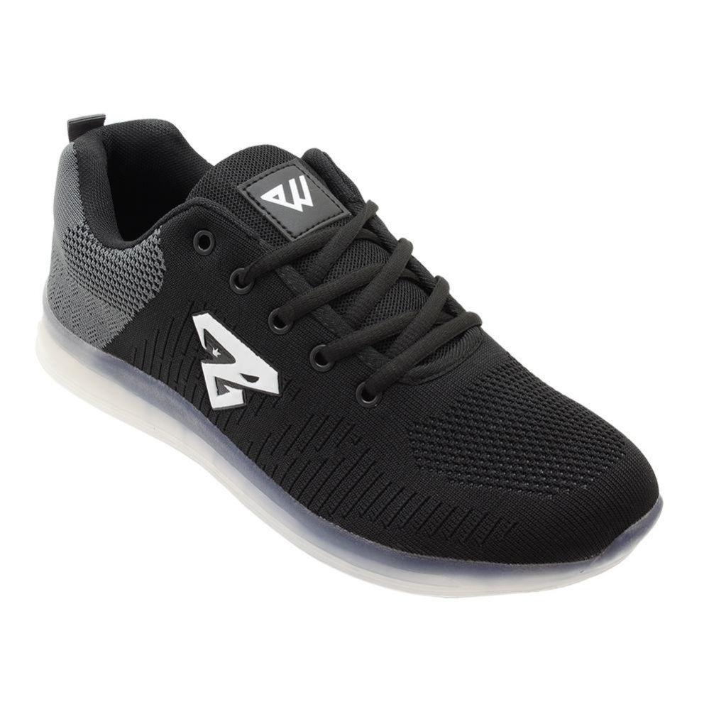 Wholesale Footwear Men's Casual Athletic Sneakers In Black