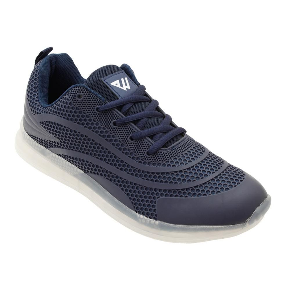 Wholesale Footwear Men's Casual Athletic Sneakers In Navy